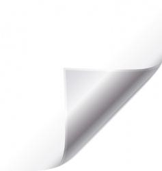 Silver page curl vector