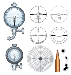 Sniper Scope Target Crosshair Clip Art vector image vector image