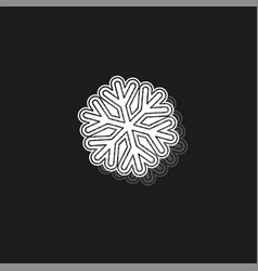 Snowflake icon christmas and winter theme simple vector