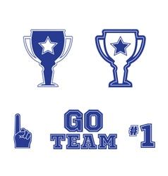 Sports icons logos symbol set vector