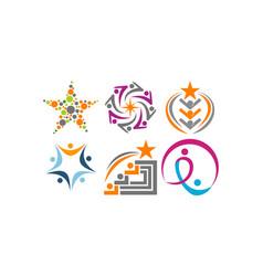 success life coaching set vector image