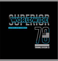 Superior worldwide 70 training division vintage vector