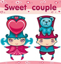 sweet couple vector image vector image