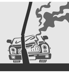 Symbol Car Crash vector