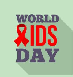 symbol world aids day logo set flat style vector image