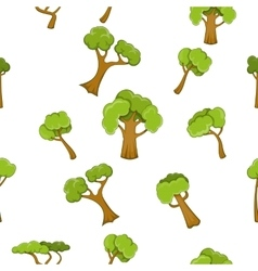 Trees pattern cartoon style vector