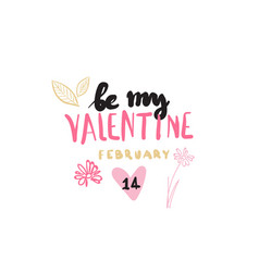 valentine day sticker for love greeting poster vector image