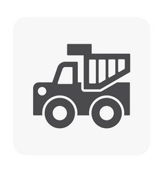 vehicle icon black vector image