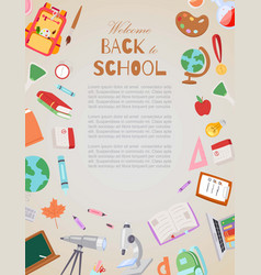 welcome back to school cartoon vector image