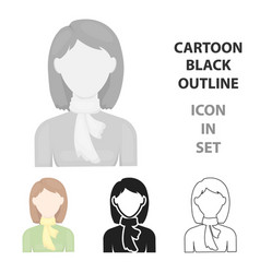woman icon cartoon single avatarpeaople icon vector image