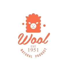 Wool orange product logo design vector