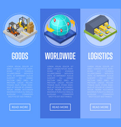Worldwide shipping and goods delivery posters vector
