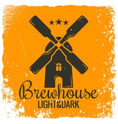 beer bottles concept vintage logo design vector image vector image