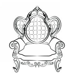 Royal Armchair set in Baroque style vector image
