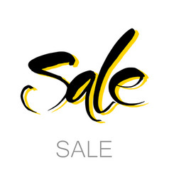 sale lettering template vector image vector image