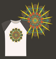 Star Tetrahedron t shirt design vector image vector image