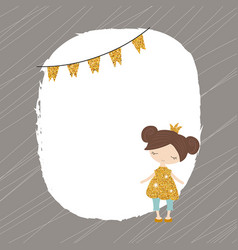 cartoon princess girl cartoon princess girl vector image