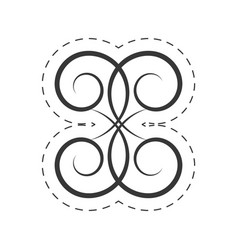 decoration ornament swirl filigree vector image