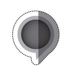 grayscale sticker of circular speech with tail in vector image vector image