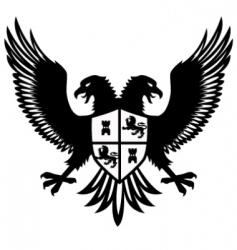 heraldic bird vector image vector image