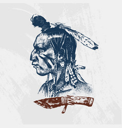 national american and native indian traditions vector image
