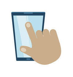 smartphone device icon image vector image