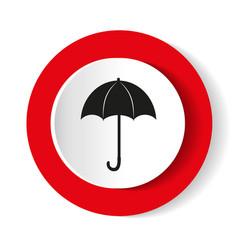 umbrella red icon flat design vector image
