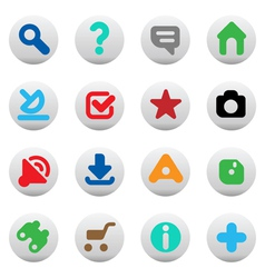 Buttons for website vector image