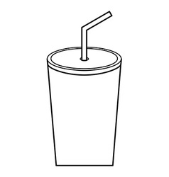 soda icon vector image vector image