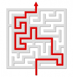 solved labyrinth vector image