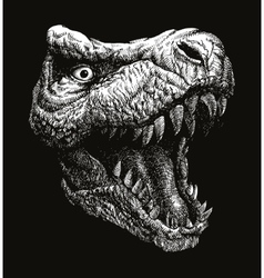 Trex dinosaur background eps 8 vector