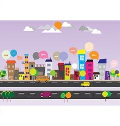 140715 City Speech Bubbles vector image
