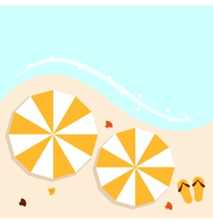 Beach summer background with umbrellas vector image