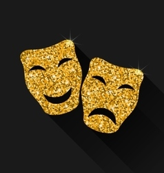 Comedy and Tragedy Masks vector image