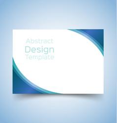 flyer template wave design 4 vector image