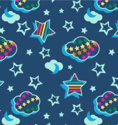 rainbow celestial pattern vector image