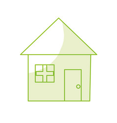 silhouette nice house with architecture design vector image vector image