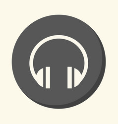 sound headphones a round icon with the vector image vector image