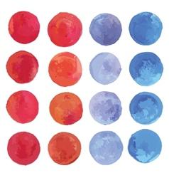 Watercolor circles set vector image