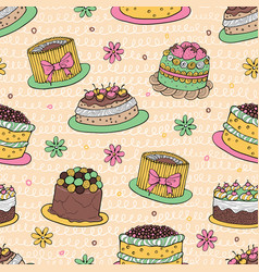 41 color cake seamless pattern vector