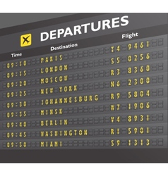 Airport board print vector image