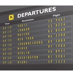 Airport board print vector image
