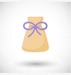 Aromatherapy sachet or bag flat icon vector