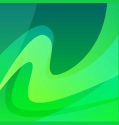 aurora polar lights - wavy green abstract backdrop vector image