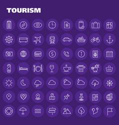 big tourism icon set vector image