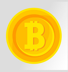 bitcoin symbol golden concept digital money vector image