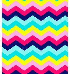 Blue pink red and turquoise chevron seamless vector image
