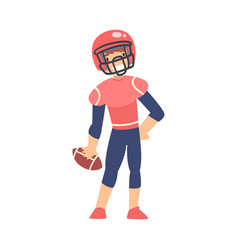 Boy american football player in sports uniform vector
