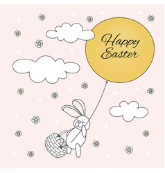 bunny easter holy holiday cartoon vector image