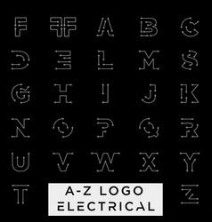 Connect or electrical a-z logo design icon vector